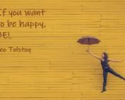 Βρείτε τον τρόπο να είστε χαρούμενοι και ευτυχισμένοι κάθε μέρα!